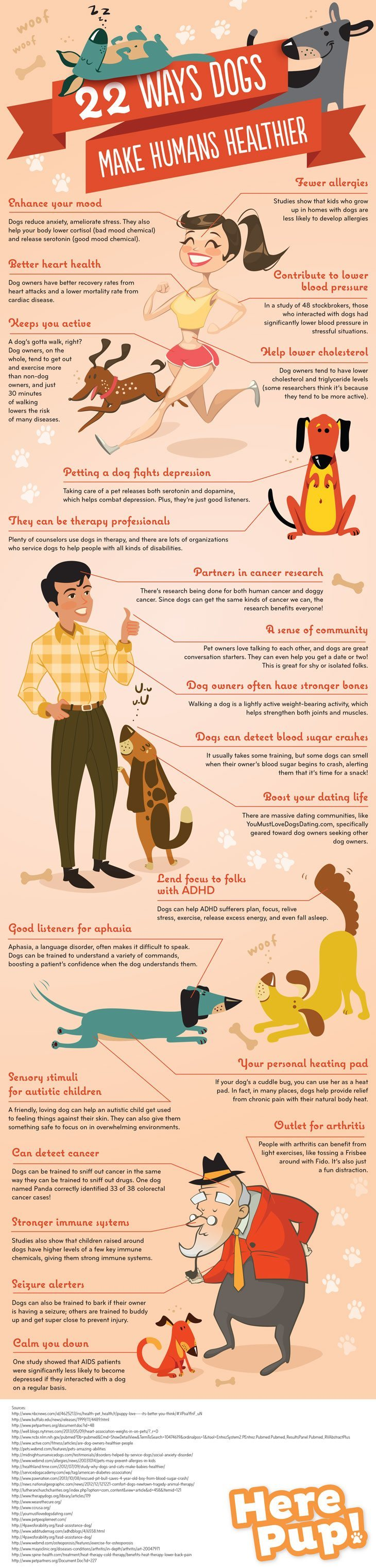 Dogs make humans healthier