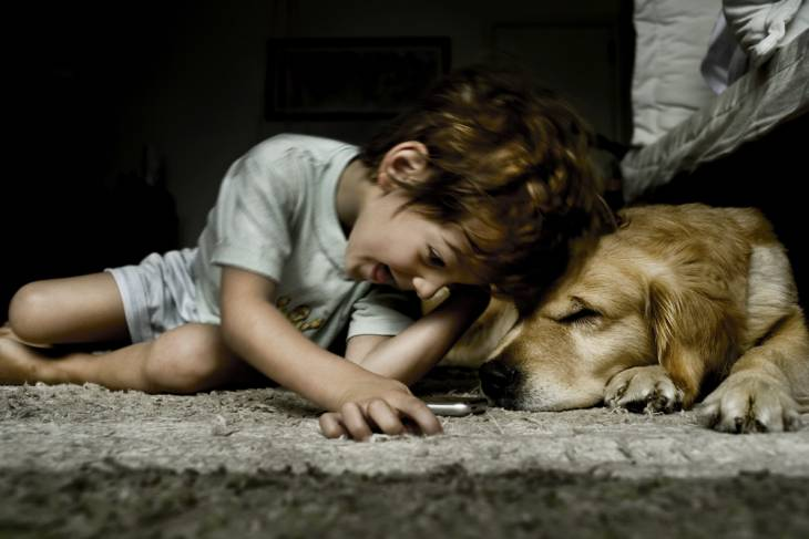 Dogs kids and depression