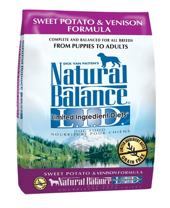 Natural Balance Limited Ingredient Diets Sweet Potato and Venison Formula Dry Dog Food