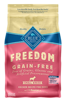 Blue Freedom Grain Free Small Breed Dog Food Reviews