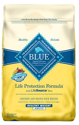 Blue Buffalo Life Protection Formula Healthy Weight Adult Chicken Brown Rice Recipe Dry Dog Food