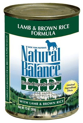 Natural Balance L.I.D. Limited Ingredient Diets Lamb Brown Rice Formula Canned Dog Food
