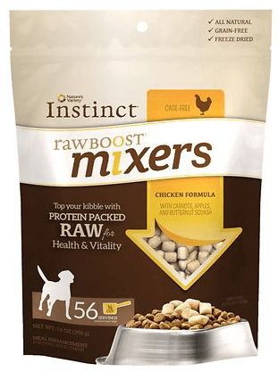 Nature's Variety Instinct Raw Boost Mixers Chicken Formula Freeze-Dried Dog Food Topper
