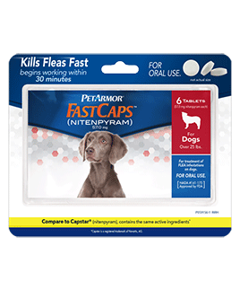 PetArmor FastCaps Oral Flea Tablets For Dogs