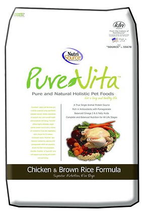 PureVita Chicken Brown Rice Formula Dry Dog Food