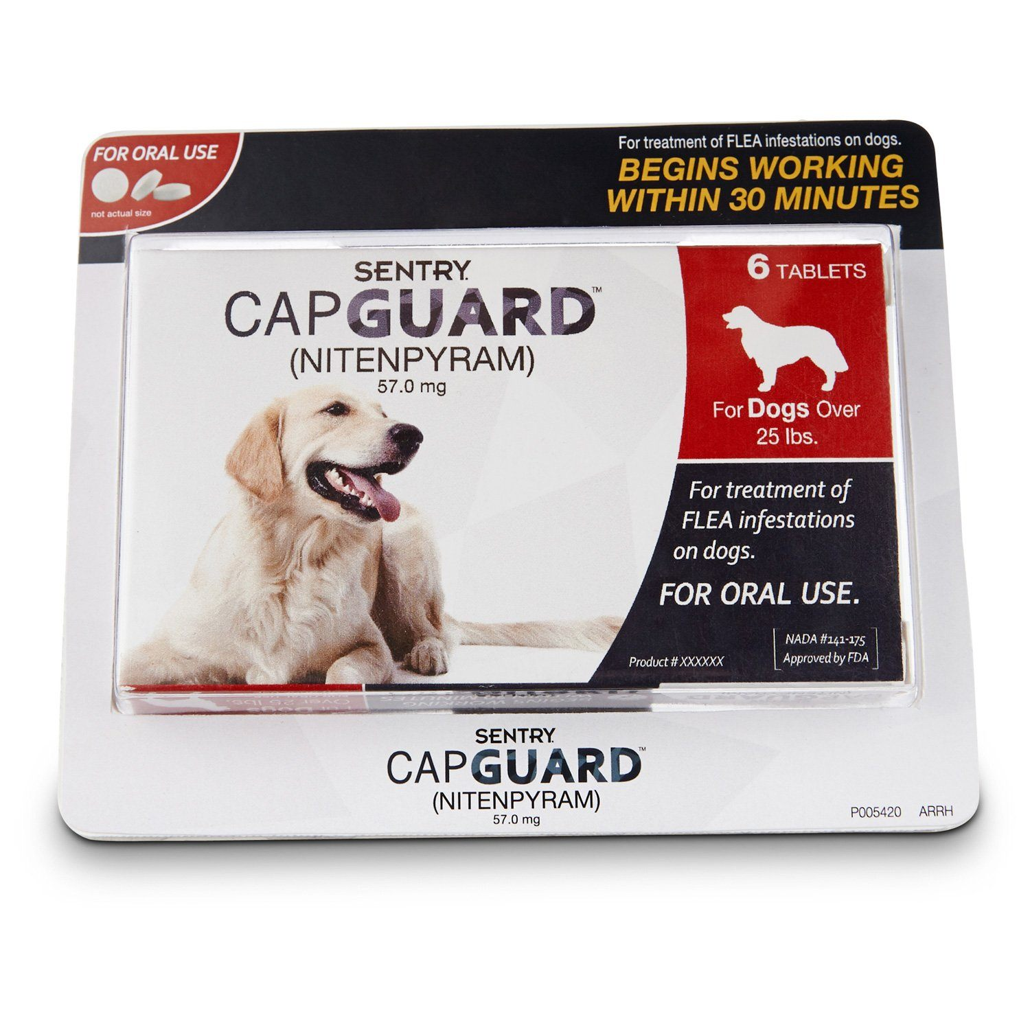 Sentry Capguard Oral Flea Tablets For Dogs