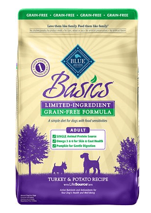 Blue Buffalo Basics Limited Ingredient Grain-Free Formula Turkey & Potato Recipe Adult Dry Dog Food