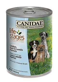 Canidae Life Stages Chicken Duck Lentils Formula Large Breed Puppy Canned Dog Food