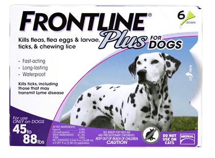 Frontline Plus Flea & Tick Treatment For Dogs