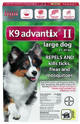K9 Advantix II Flea Tick Treatment for Dogs
