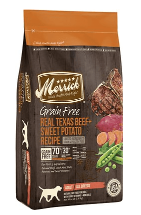 Merrick Grain-Free Real Texas Beef + Sweet Potato Recipe Dry Dog Food