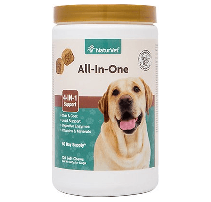 NaturVet All-In-One Soft Chews For Dogs