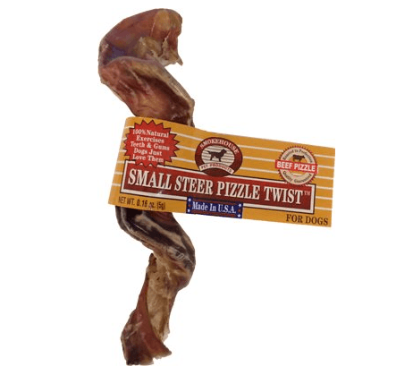 Smokehouse USA 4 Steer Pizzle Twists Dog Treat