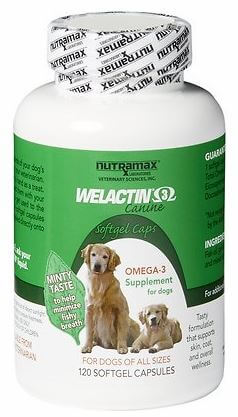 Nutramax Welactin Canine Omega-3 Softgel Capsules Dog Supplement