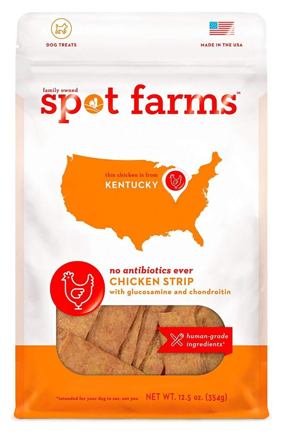 Spot Farms Chicken Strips with Glucosamine & Chondroitin Dog Treats
