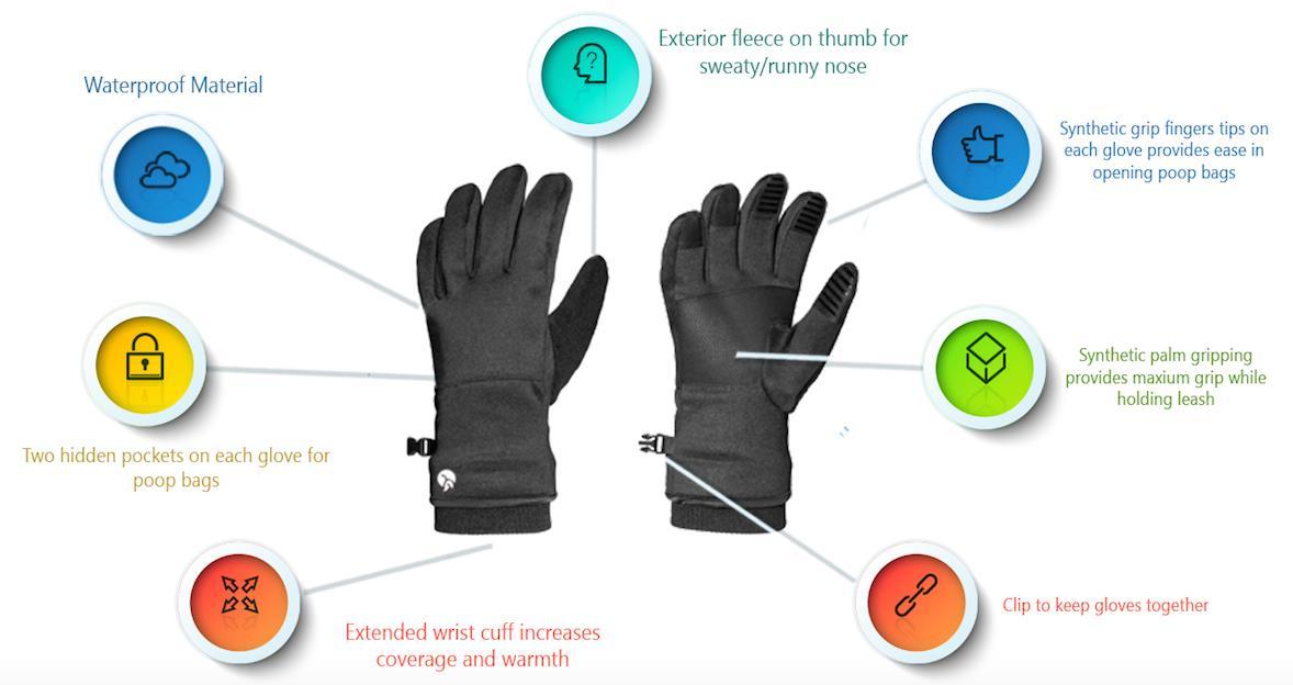 Winter Glove Designed for Dog Owners