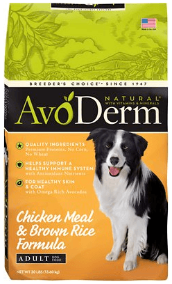 AvoDerm Dry Dog Food Formula