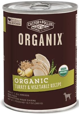 Castor and Pollux Organix food with turkey for doberman