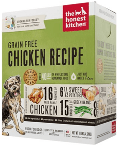 Honest Kitchen Force's chicken recipe