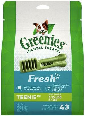 Greenies Fresh Teenie Dental Dog Treats