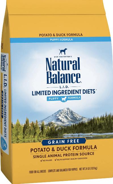 Natural Balance L.I.D. Puppy Formula Potato & Duck Formula