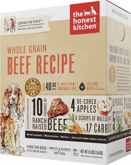 The Honest Kitchen Whole Grain Beef Recipe