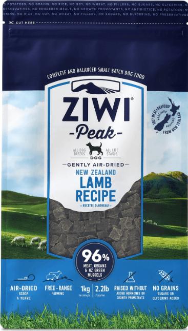 ZiwiPeak Real Meat Grain-Free Lamb Recipe
