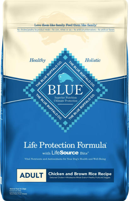 blue buffalo life protection formula adult food chicken