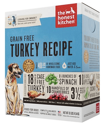Honest Kitchen Embark Grain-Free Turkey Recipe