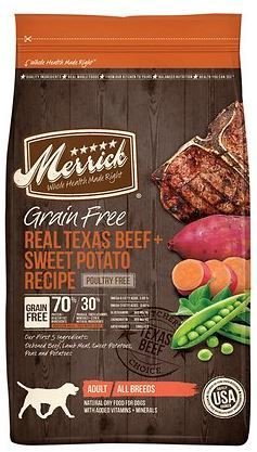 Merrick Grain-Free Real Texas Beef & Sweet Potato