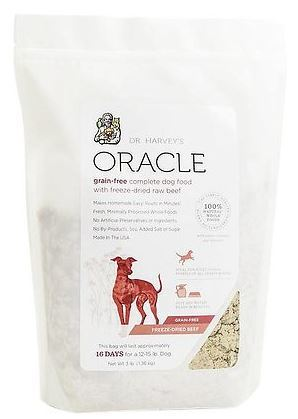 Dr. Harvey's Oracle Freeze-Dried Raw Complete Diet for Dogs - Grain-Free Beef