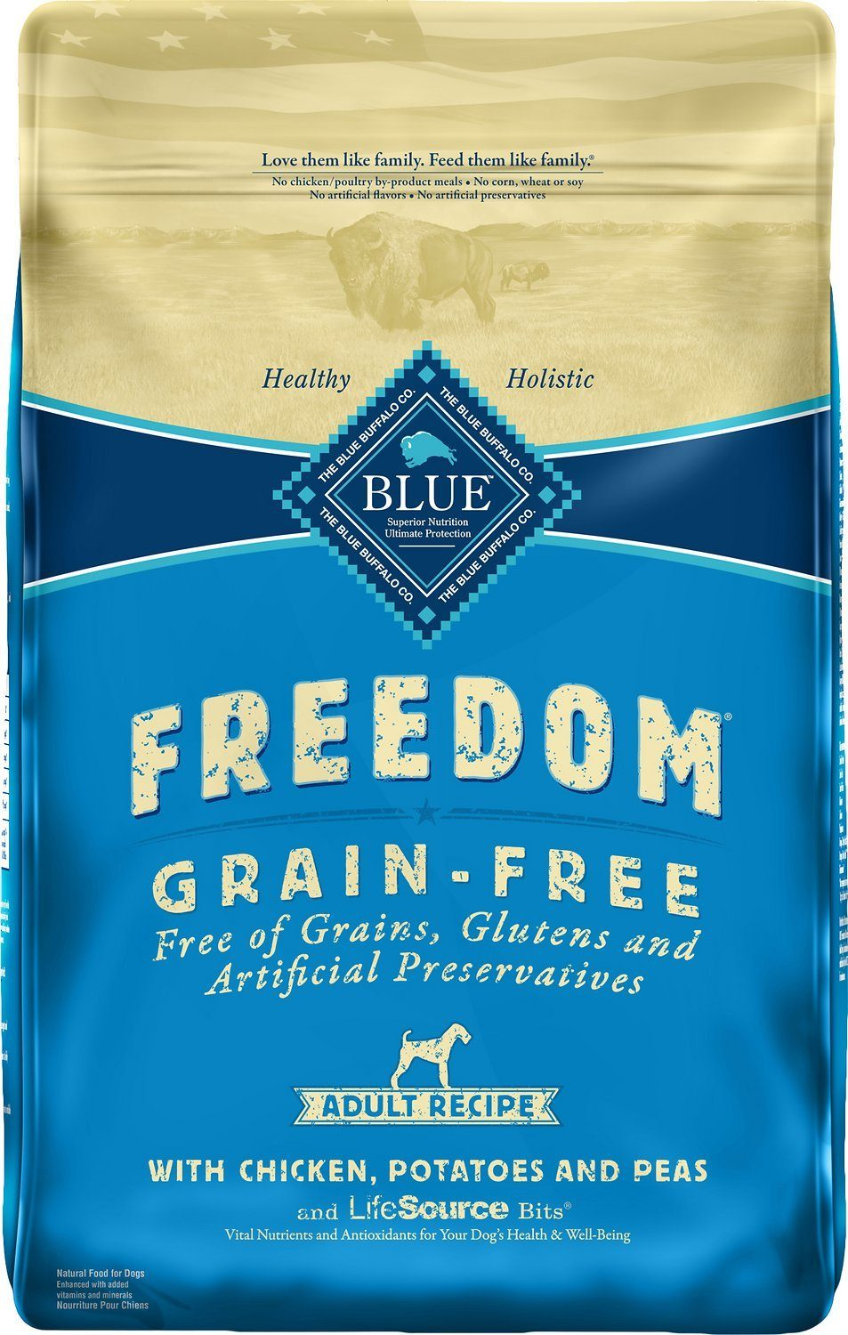 Blue Buffalo Freedom Adult Chicken Recipe Grain-Free Dry Dog Food