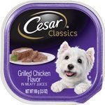 Cesar Classics Pate Grilled Chicken Dog Food Trays, 3.5-oz, case of 24