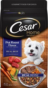 Cesar Small Breed Dry Dog Food, Home Delights Pot Roast Flavor with Garden Vegetables