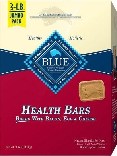 Blue Buffalo Health Bars Baked with Bacon, Egg & Cheese Dog Treats