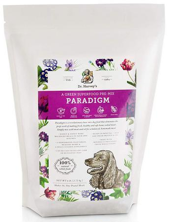 Dr. Harvey's Paradigm Green Superfood Dog Food, Human-Grade Dehydrated Base Mix for Dogs, Low Carb or Ketogenic Diet