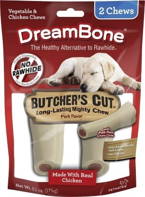 DreamBone Large Butcher's Cut Chicken Chews Dog Treats, 2 count