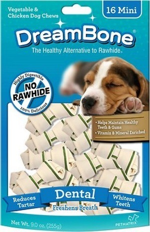 DreamBone Mini Dental Chew Bones Dog Treats