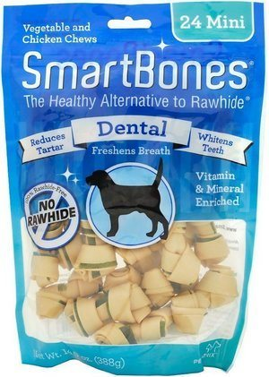 SmartBones Mini Dental Chew Bones Dog Treats