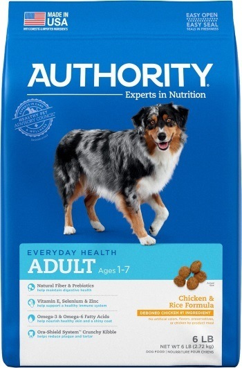 Authority Chicken & Rice Formula Adult Dry Dog Food