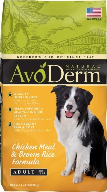 AvoDerm Natural Chicken Meal & Brown Rice Formula Adult Dry Dog Food