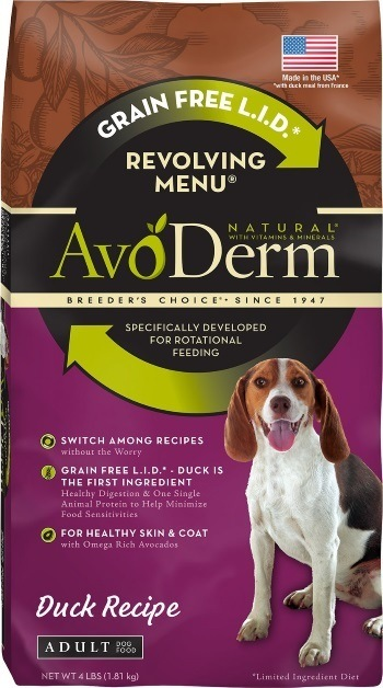 AvoDerm Natural Grain-Free Revolving Menu Duck Recipe Adult Dry Dog Food