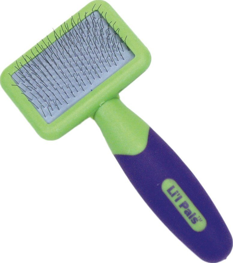 L\'il Pals Slicker Purple & Green Dog Brush