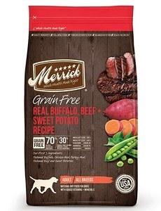 Merrick Grain Free Buffalo & Sweet Potato