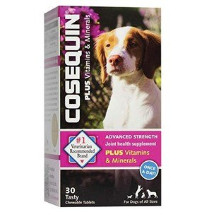 Nutramax Cosequin Advanced Strength Joint Health Plus Vitamins & Minerals Chewable Tablets Dog Supplement