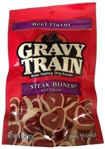 Gravy Train Steak Bones Beef Flavor