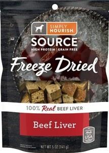 Simply Nourish Freeze Dried Beef Liver Dog Treats