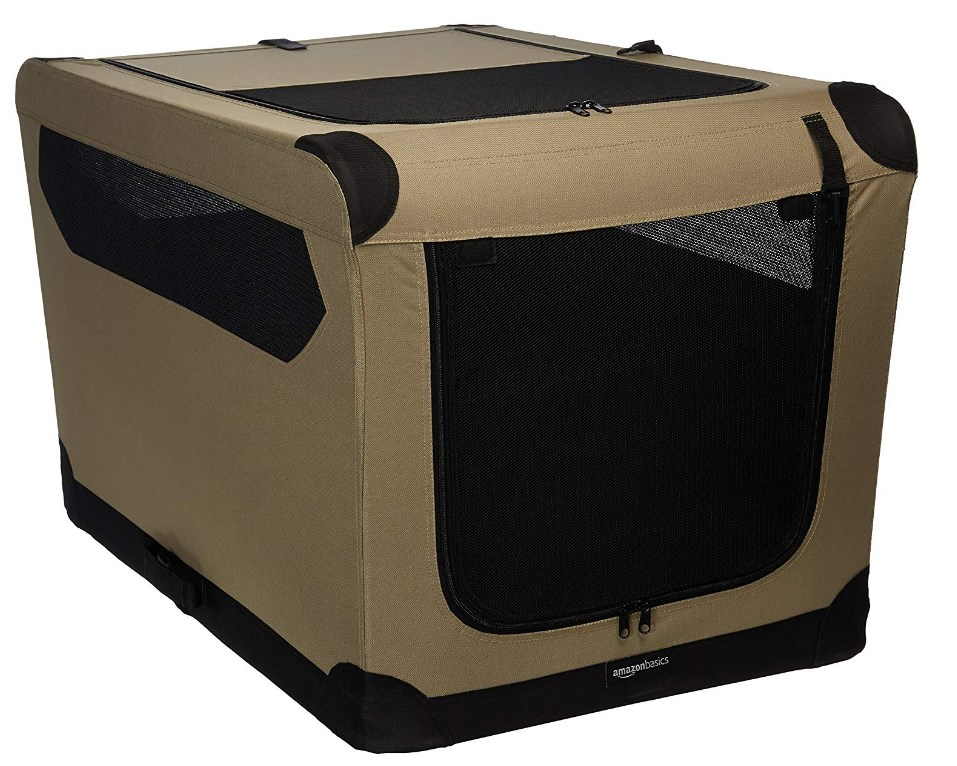 Amazon Basics Folding Soft Dog Crate for Crate-Trained Dogs