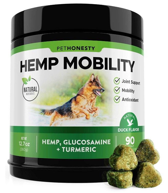 PetHonesty Hemp Hip & Joint Supplement for Dogs with Hemp Oil