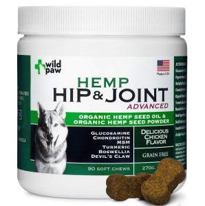 wild paw organic hemp hip and joint supplement